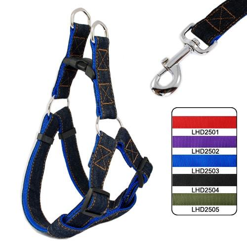 xich-cuong-nguc-vai-bo-cho-cho-denim-nylon-harness-leash
